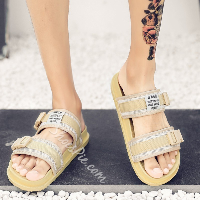Shoespie Summer Buckle Slippers