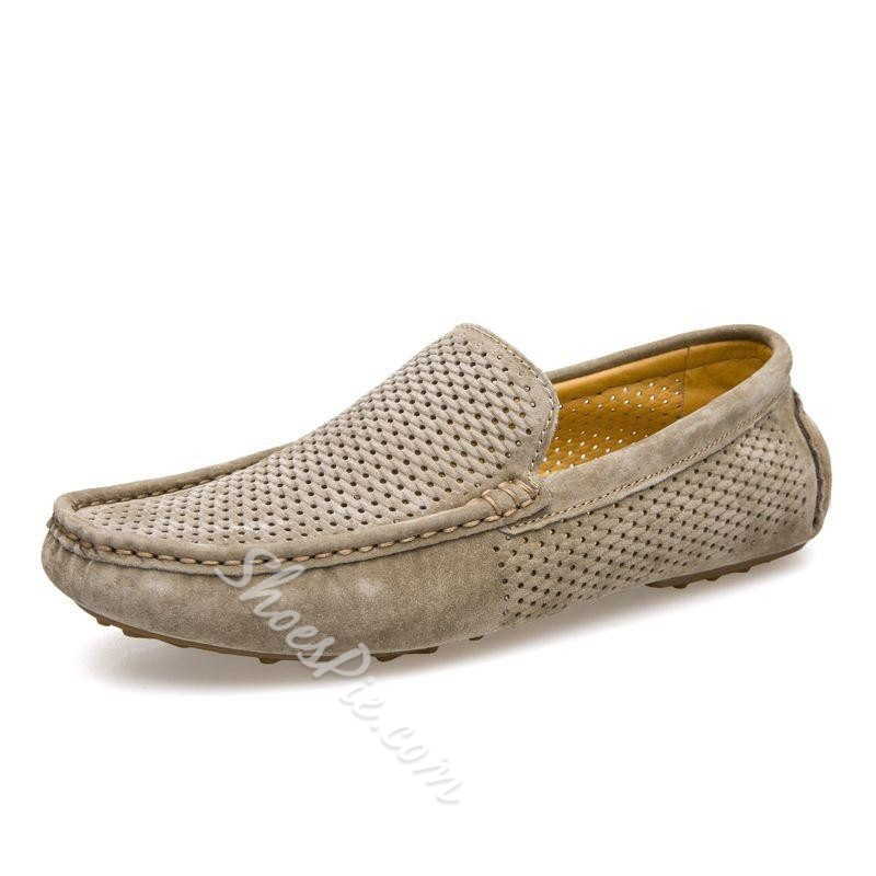 Shoespie Slip-On Breathable PU Men's Loafers