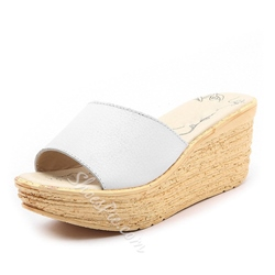 Shoespie Wedge Heel Slip-On Platform Summer Slippers