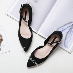 Shoespie Buckle Solid Buckle Strap Flats