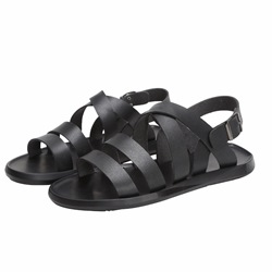 Shoespie Flat Buckle Open Toe Men's Jesus Sandals