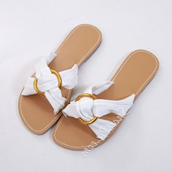 Shoespie Flat Slip-On Cross Hollow Slippers