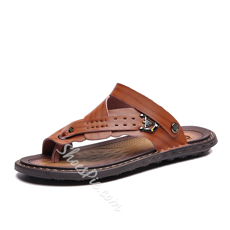 Shoespie Large Size Men's Toe Ring Sandals