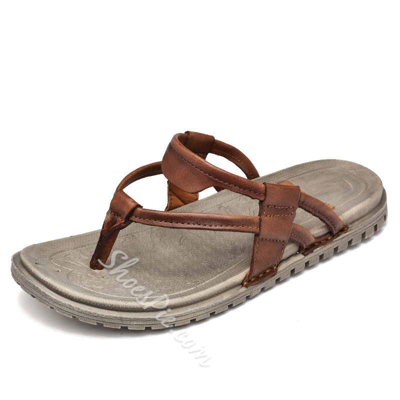 Shoespie Leather Summer Men's Jesus Sandals