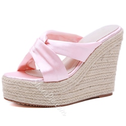 Shoespie Wedge Heel Cross Hollow Summer Slippers