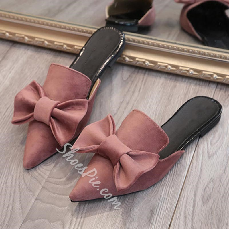 Shoespie Flat Bow Summer Slippers