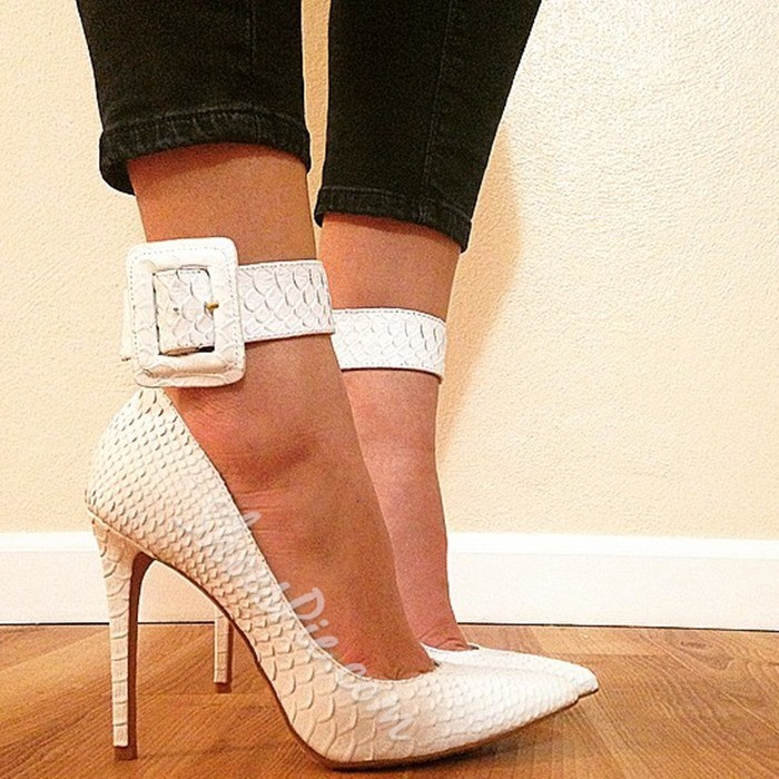 Shoespie Sexy Line-Style Buckle Pointed Toe Stiletto Heels