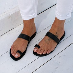 Shoespie Casual Toe Ring Flat Compound Slippers