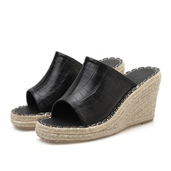 Shoespie Open Toe Wedge Heel Summer Slippers