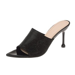 Shoespie Kitten Heel Pointed Toe Mules