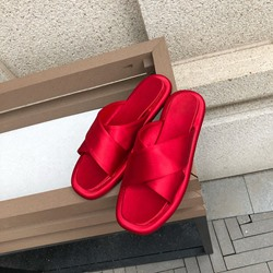 Shoespie Cross Flat Hollow Casual Slippers