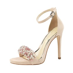 Shoespie Beaded Stiletto Heel Prom Sandals