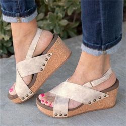 Shoespie Slingback Wedge Heel Open To Sandals