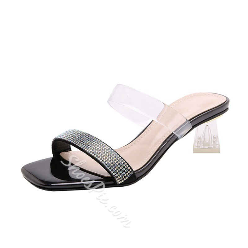 Shoespie Beaded Clear Summer Slippers