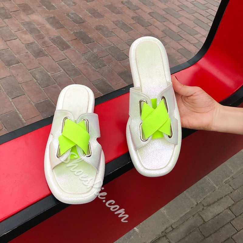 Shoespie Cross Flat With Hollow Slippers