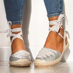 Shoespie Trendy Round Toe Block Heel Lace-Up Low-Cut Upper Sandals
