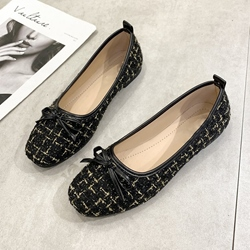 Shoespie Bow Slip On Flats