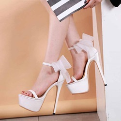 Shoespie Bow Platform Open Toe Stiletto Heel Sandals