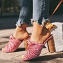 Shoespie Bow Chunky Heel Summer Slippers
