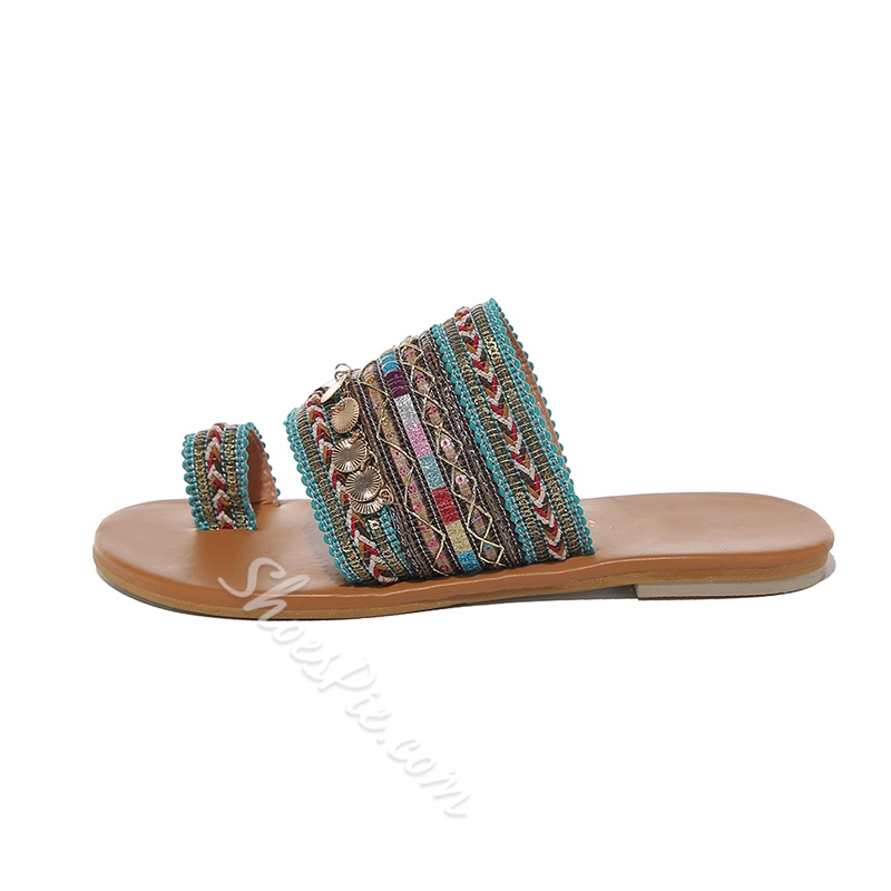 Shoespie Clip Toe Bohemian Summer Slippers
