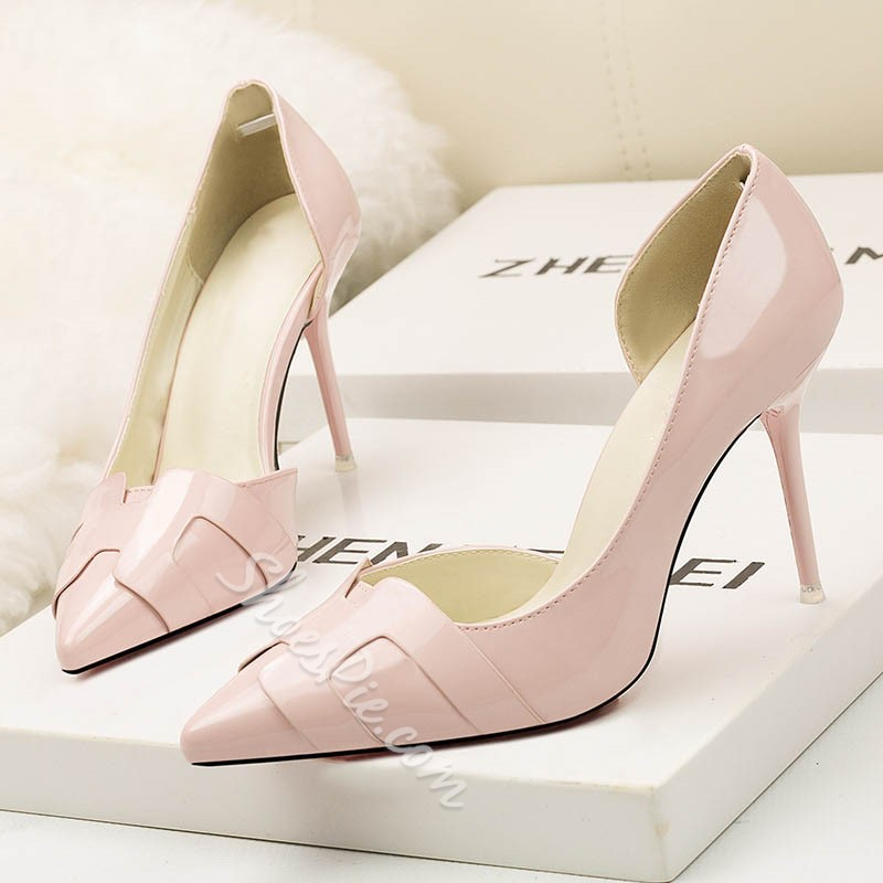 Shoespie Stiletto Heel Slip On Pumps