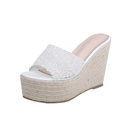 Shoespie Slip-On Wedge Heel Casual Slippers