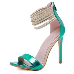 Shoespie Trendy Zipper Stiletto Heel Heel Covering Low-Cut Upper Sandals
