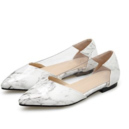 Shoespie Trendy Slip-On Pointed Toe Clear Flats