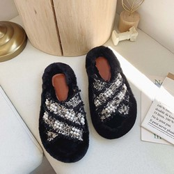 Shoespie Stylish Slip-On Flip Flop Beads Rubber Slippers