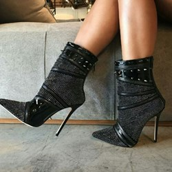 Shoespie Sexy Back Zip Pointed Toe Stiletto Heel Banquet Boots
