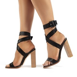 Shoespie Sexy Open Toe Buckle Chunky Heel Western Sandals