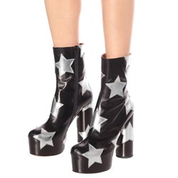 Shoespie Trendy Round Toe Star Chunky Heel Casual Boots