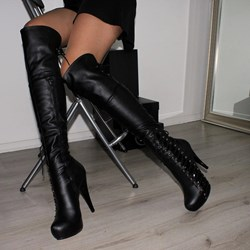 Shoespie Sexy Side Zipper Stiletto Heel Round Toe Zipper Boots