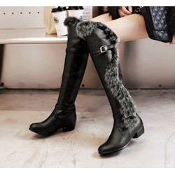 Shoespie Stylish Plain Hasp Round Toe PU Boots