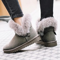 Shoespie Sexy Slip-On Round Toe Patchwork Thread Boots