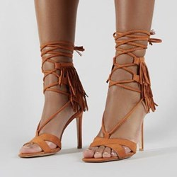 Shoespie Trendy Zipper Covering Stiletto Heel Western Sandals
