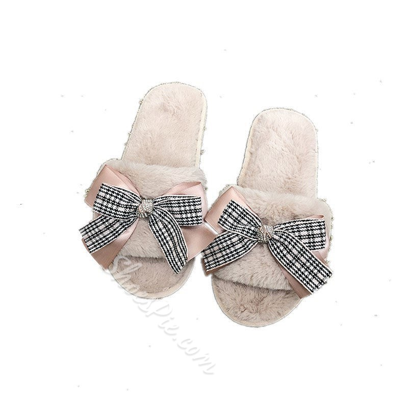Shoespie Trendy Flip Flop Flat With Rhinestone Casual Slippers