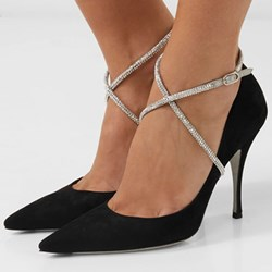 Shoespie Sexy Stiletto Heel Buckle Pointed Toe Banquet Thin Shoes