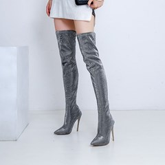 Shoespie Sexy Plain Pointed Toe Slip-On Knee High Boots