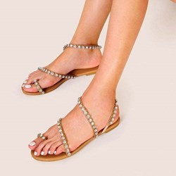 Shoespie Trendy Block Heel Toe Ring Slip-On Low-Cut Upper Sandals