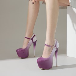 Shoespie Stylish Buckle Stiletto Heel Round Toe Sexy Thin Shoes