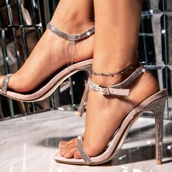 Shoespie Stylish Open Toe Buckle Stiletto Heel Sandals