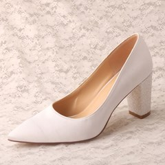 Shoespie Sexy Thread Pointed Toe Slip-On Plain Bridal Shoes