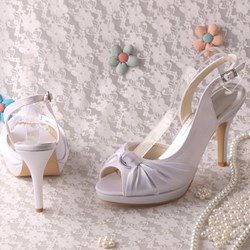 Shoespie Sexy Slip-On Stiletto Heel Peep Toe Wedding Shoes