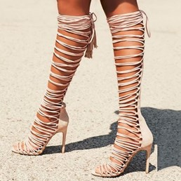 Shoespie Trendy Stiletto Heel Lace-Up Open Toe Strap Sandals