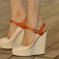 Shoespie Sexy Closed Toe Wedge Heel Buckle Casual Sandals